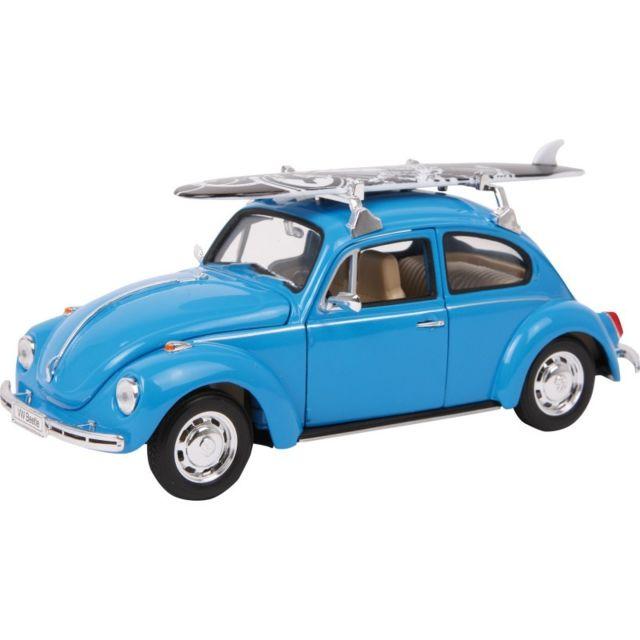 Small Foot Company Voiture miniature Vw Beetle + planche de surf