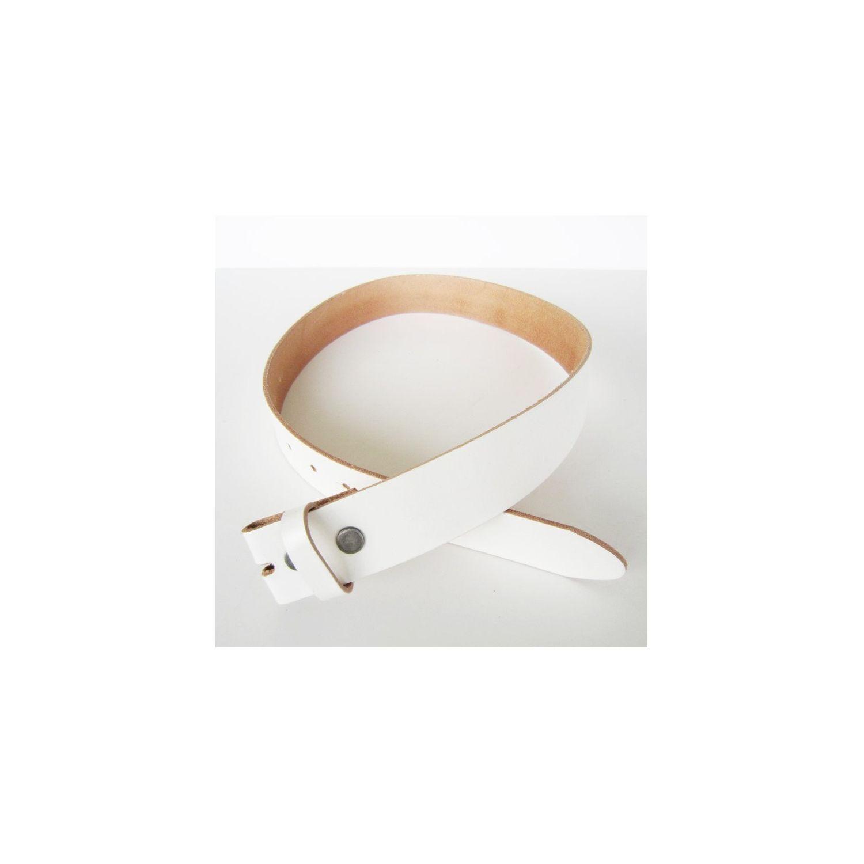 c90efd1f02b UNIVERSEL- Xl 125cm ceinture en cuir véritable blanche homme femme pleine  fleur - Multicolore