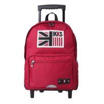 Ikks - Sac à dos à roulettes Uk Boy 2 compartiments Rouge