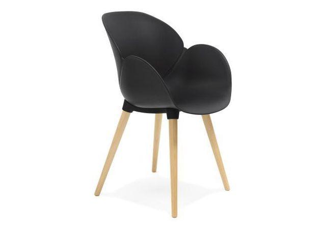 declikdeco chaise scandinave coque plastique noir hans - Chaise Scandinave Noir