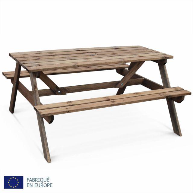 ALICE\'S GARDEN - Table de pique nique en bois 150cm - PADANO - Table ...