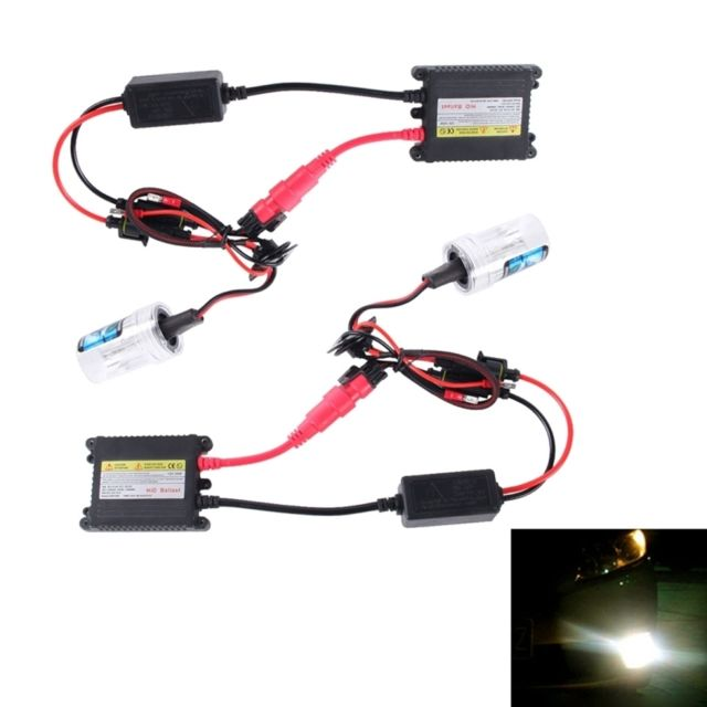 Wewoo Phare Xenon Voiture 2 Pcs 35w H1 2800 Lm Mince Hid Xenon