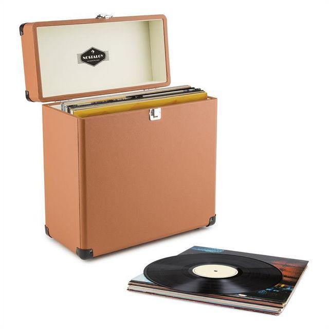 Auna Tts6 Coffret A Vinyles Style Retro En Cuir Rangement 30 Disques Marron Pas Cher Achat Vente Accessoires Dj Rueducommerce