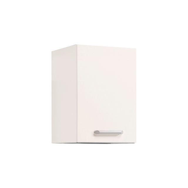 Meuble haut L40xH58xP36cm - blanc brillant