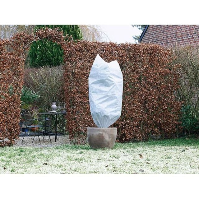 PAILLAGE - VOILE - PROTECTION CULTURE Lot de 2 housse d'hivernage 50 g/m² - Ø 75 cm x 1,50 m - Blanc