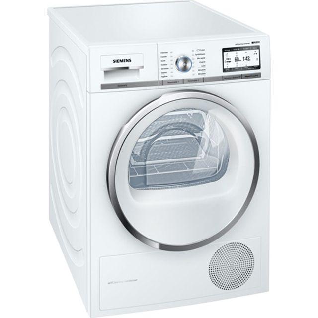 SIEMENS sèche linge à pompe à chaleur avec condenseur 60cm 9kg a++ blanc - wt47y8h1ff