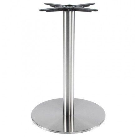 TECHNEB Pied de table WIND rond sans plateau en métal 50cmX50cmX75cm, acier