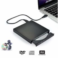 Ineck - Lecteur Dvd Externe, Lecteur Portable Usb 2.0 Cd Dvd Compatible Windows Xp/7/8/10/Vista/ Linux, Mac Os pour Ordinateurs de Bureau/Portable Apple MacBook Air/Pro -noir