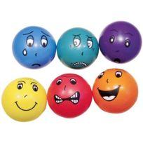 """Vinco Educational - balles diametre 15cm """"emotions"""" - lot de 6"""