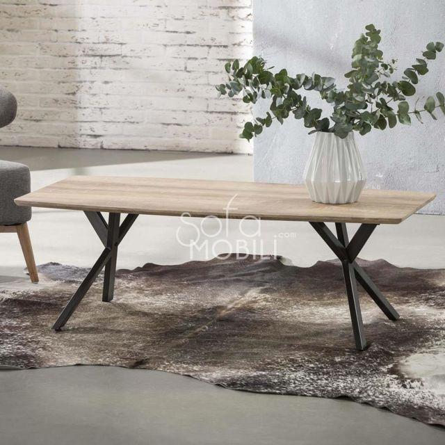 Sofamobili Table basse moderne couleur bois Margo