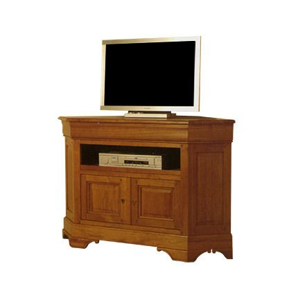 meuble tv d 39 angle 1 niche 2 portes en ch ne massif sebpeche31. Black Bedroom Furniture Sets. Home Design Ideas