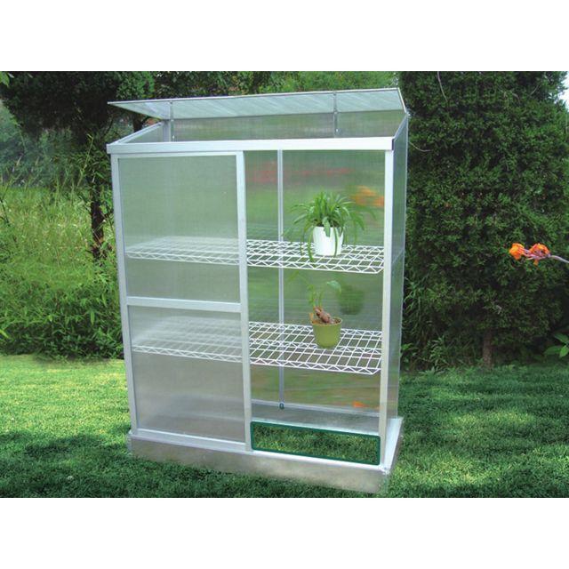 Habitat et jardin mini serre de jardin ou balcon - Mini serre polycarbonate ...