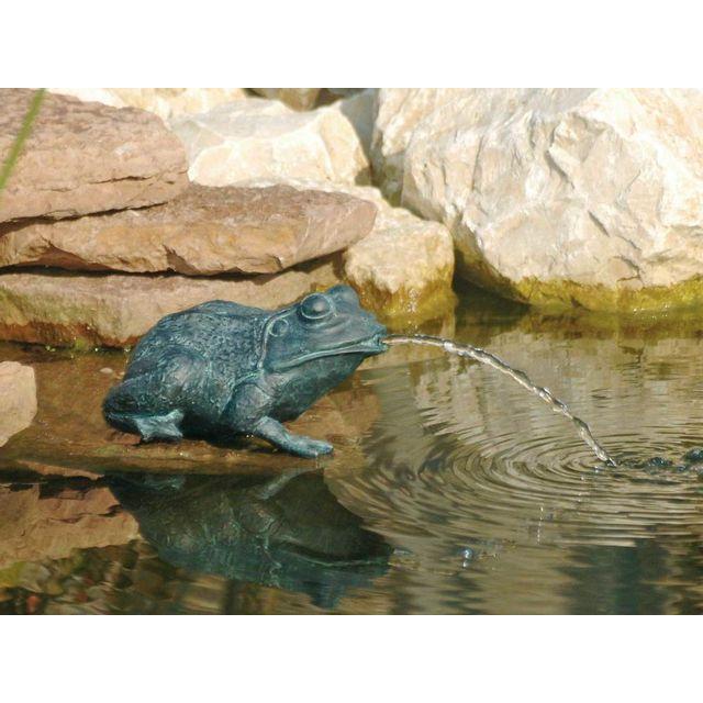 Ubbink Gargouille pour bassin Petite Grenouille - hauteur 12 cm Grenouille