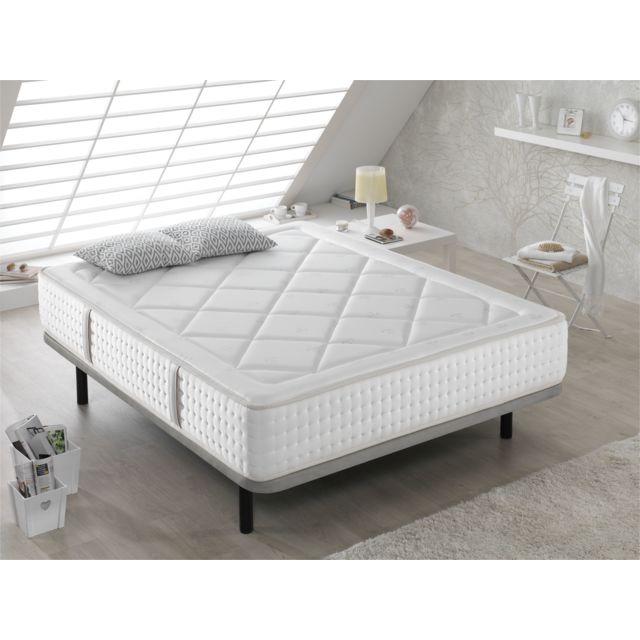 Dormalit Matelas 200X200 Amelie - Hauteur 29 Cm - Dureté moyenne - Mousse super soft - Repos confortable