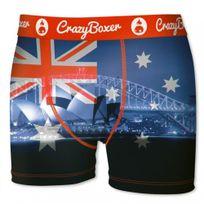 Crazy - Crazyboxer Boxer Homme Microfibre Bm4ASS8 Sydney Bleu Rouge