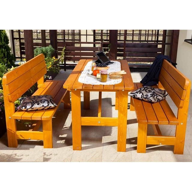 avec 6 HAMBOURG 2 de personnes jardin sapin bancs en Table HIWE29D