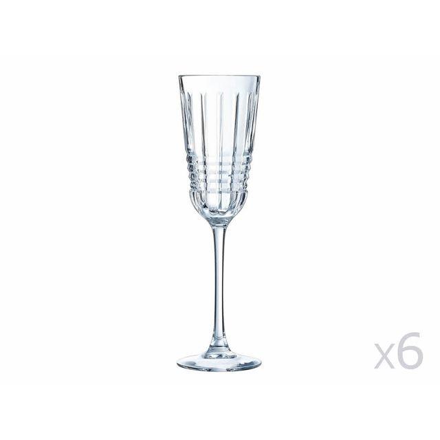 cristal d 39 arques fl te en cristallin 17cl lot de 6 rendez vous pas cher achat vente flute. Black Bedroom Furniture Sets. Home Design Ideas