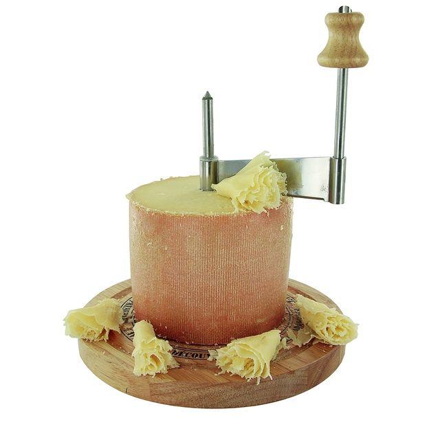 The Concept Factory - Racloir a fromage en bois avec cloche