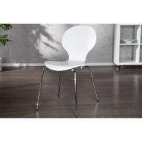 CHLOE DESIGN - Chaises design Horni - blanc - Par 2