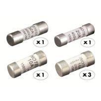 Zenitech - 6 fusibles céramique 1x10A 3x16A 1x20A 1x32A avec voyant