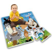 Stamp - Tapis Puzzle Géant Mousse Animaux De La Campagne 9pcs Avec Boite Couleur
