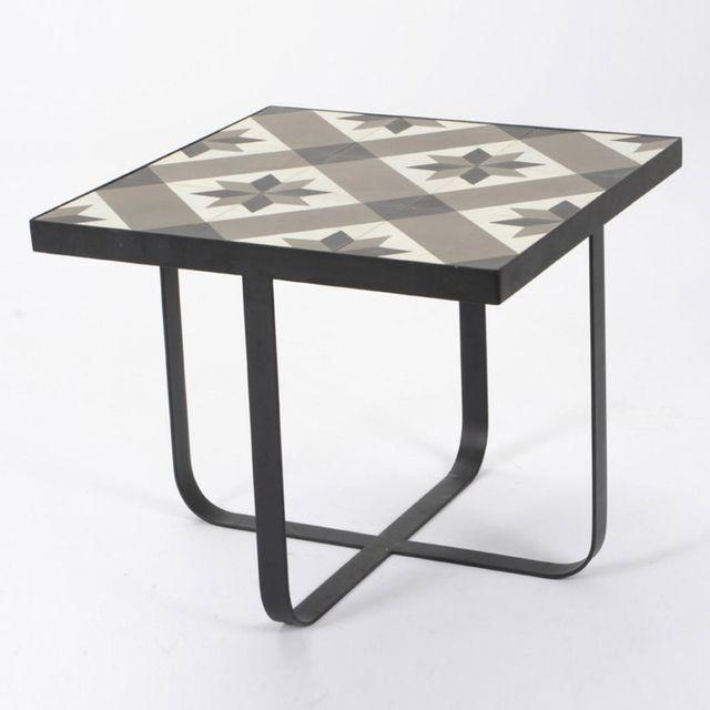 Amadeus Bout de canapé carreaux de ciment Hauteur 60 cm Ama