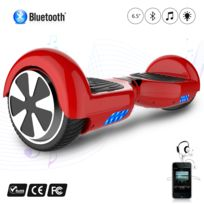 COOL AND FUN - COOL&FUN Hoverboard Batterie certifié CE Bleutooth, gyropode 6,5 pouces Rouge
