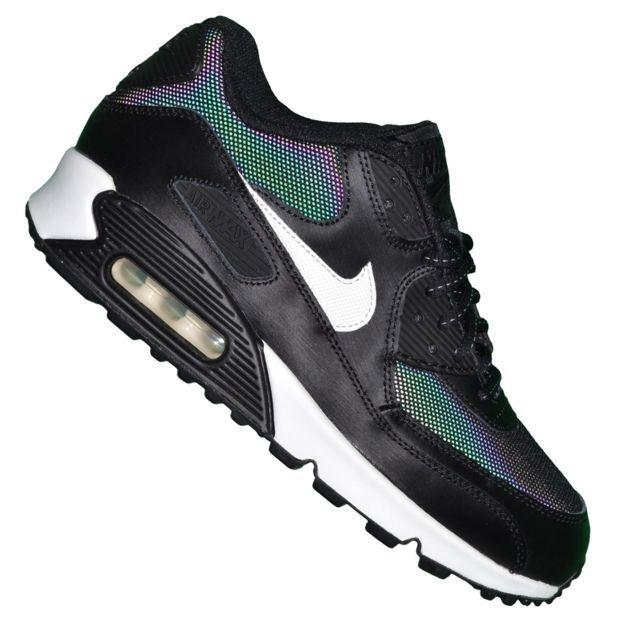 sports shoes 8ae11 f4a13 Nike - Basket - Femme Et Junior - Air Max 90 Flash 130 - Noir Cameleon - pas  cher Achat   Vente Baskets femme - RueDuCommerce