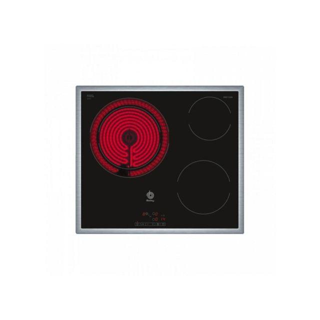 Balay Plaques vitro-céramiques 3EB715XR 5700W 60 cm Noir