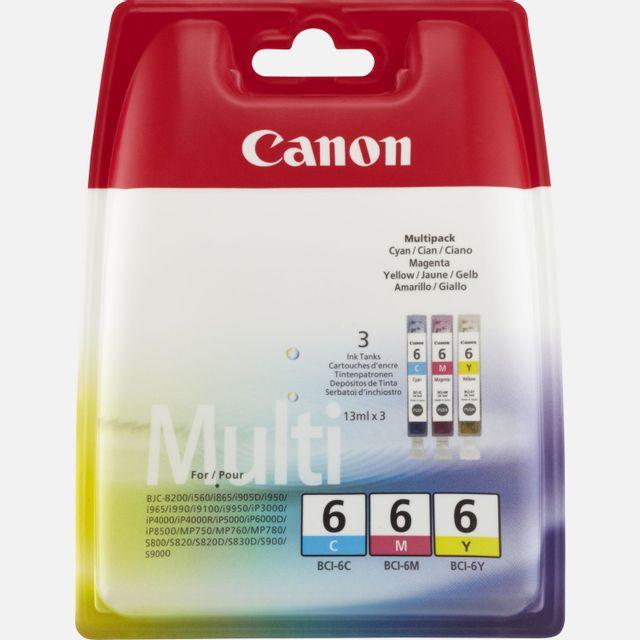 CANON BCI-6 - Multipack Cartouche d'encre 3 couleurs