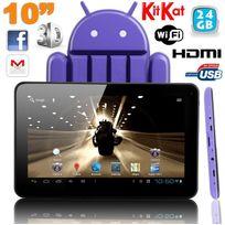 Yonis - Tablette tactile 10 pouces Android 4.4 KitKat Quad Core 24 Go Violet