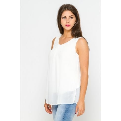 Princesse Boutique - Blouse blanche dos à dentelle - pas cher Achat ... c83e1ce7537