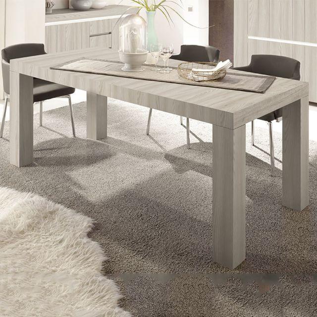 manger Nouvomeuble couleur à bois contemporaine Table 3RL5jA4
