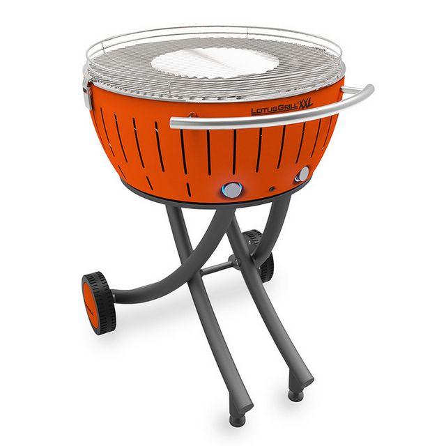 LOTUSGRILL barbecue à charbon portable 60cm orange avec housse - lg-or-600