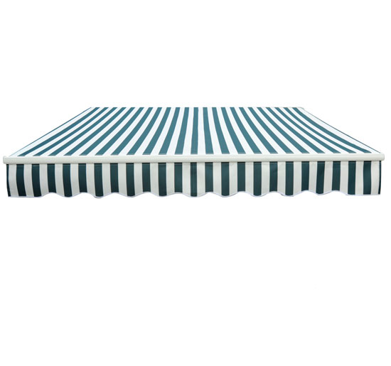 Store banne manuel de jardin terrasse auvent retractable structure en alu 4x3m
