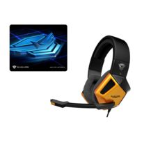 EASARS - PACK Casque Gaming 7.1 Sparkle yellow Edition + Tapis de souris sand-table