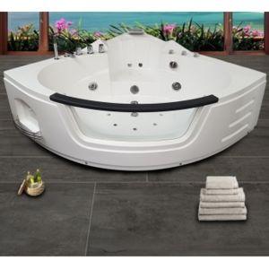 ouest balneo baignoire balneo ouest baln o baignoire angle 140cm x 140cm x 62cm 1 leds 7. Black Bedroom Furniture Sets. Home Design Ideas