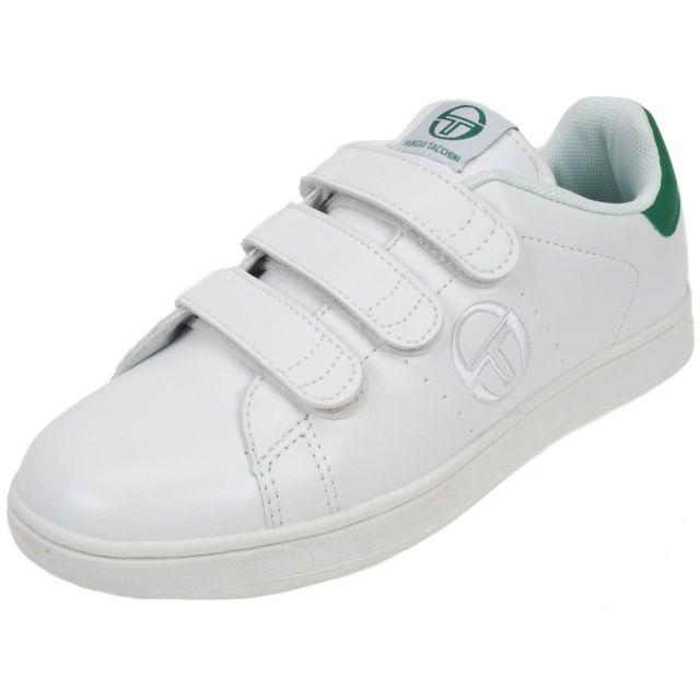 f15ca9c1dac92 Sergio Tacchini - Chaussures mode ville Stgrantorino scratchblc v Blanc  33575 - pas cher Achat   Vente Baskets enfant - RueDuCommerce