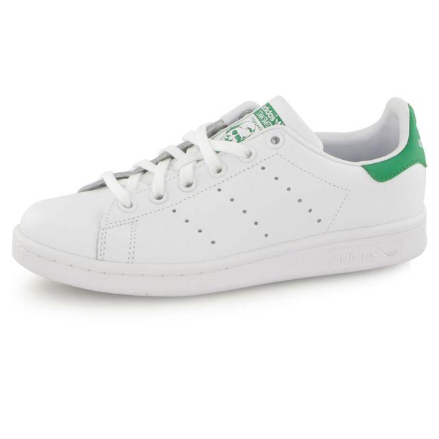Adidas originals - Stan Smith classic M20605 Blanc   Vert - pas cher ... 05494da5ba57