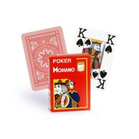 Modiano - Cartes 100% plastique 4 index rouge