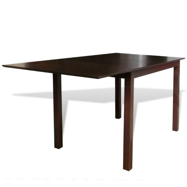 Casasmart Table marron bois massif 150 cm extensible