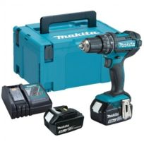 Makita - Perceuse Visseuse à percussion Dhp482RFJ 18 V Li-Ion 2 x 3Ah Ø 13mm