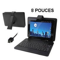 Yonis - Housse clavier universelle tablette tactile 8 pouces support étui Noir