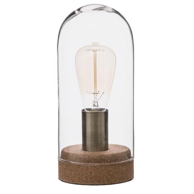 Atmosphera, Createur D'INTERIE Lampe dôme en liège - Diam. 12 cm - Marron