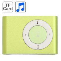 Wewoo - Lecteur Mp3 carte Tf Micro Sd avec clip en métal vert clair