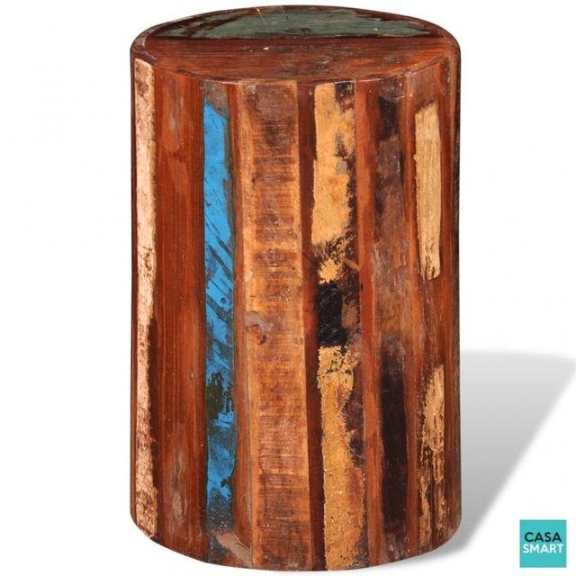 Casasmart Linus Tabouret en bois vintage