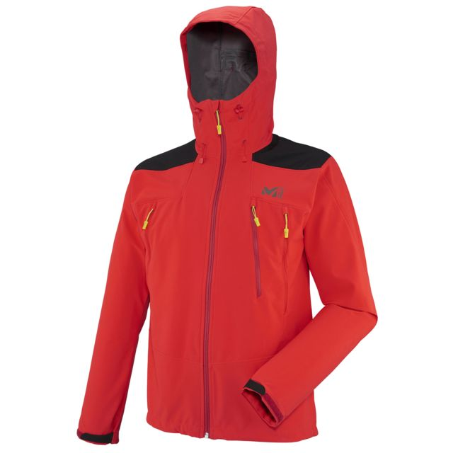 K Rouge Hoodie Homme Shield Softshell Veste Millet Pas Red wYqaEW