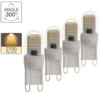 Xanlite - Pack de 3 + 1 ampoules Led G9, culot G9, blanc chaud2,6W 20W