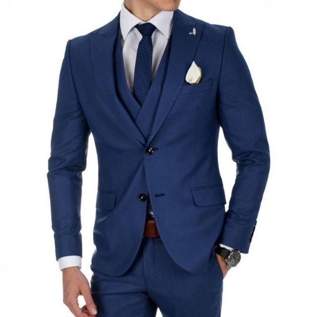prestige man costume bleu roi dario pas cher achat vente costumes rueducommerce. Black Bedroom Furniture Sets. Home Design Ideas