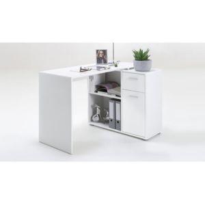 declikdeco bureau d 39 angle r versible leonceby blanc pas cher achat vente bureaux. Black Bedroom Furniture Sets. Home Design Ideas